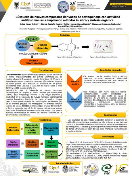 Búsqueda de nuevos compuestos derivados de naftoquinona con actividad antileishmaniasis empleando métodos in sílico y síntesis orgánica