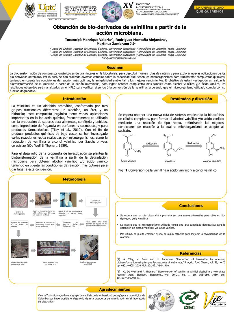 Obtención de bio-derivados de vainillina a partir de la acción microbiana