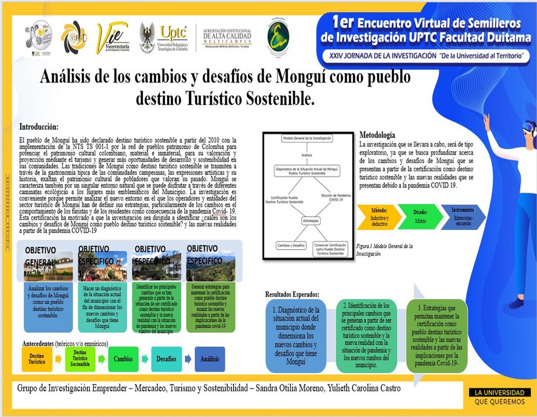 Análisis de los cambios y desafíos de Monguí como pueblo destino Turístico Sostenible