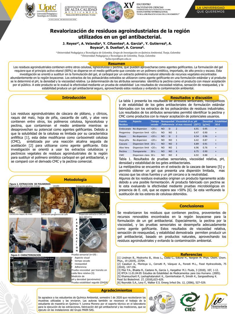 Revalorización de residuos agroindustriales de la región utilizados en un gel antibacterial