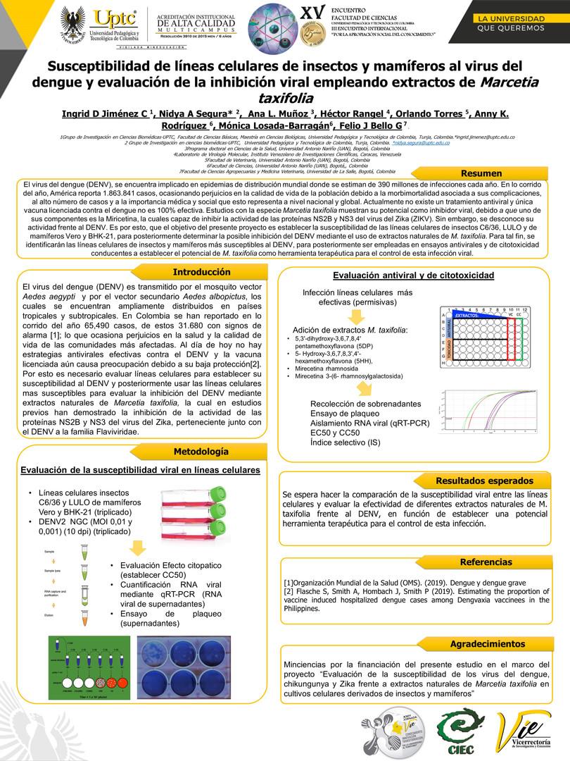 Susceptibilidad del virus del dengue a extractos naturales de Marcetia taxifolia en cultivos celulares de insectos y mamíferos