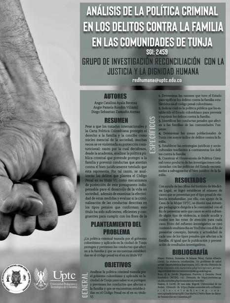 Análisis de la política criminal en los delitos contra la familia en las comunidades de Tunja