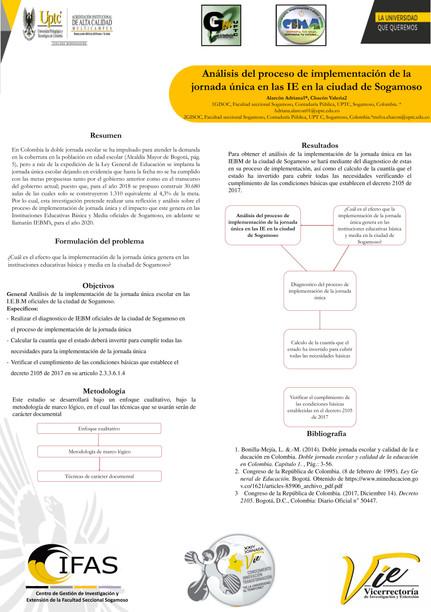 Análisis del proceso de implementación de la Jornada única en las IE en la ciudad de Sogamos