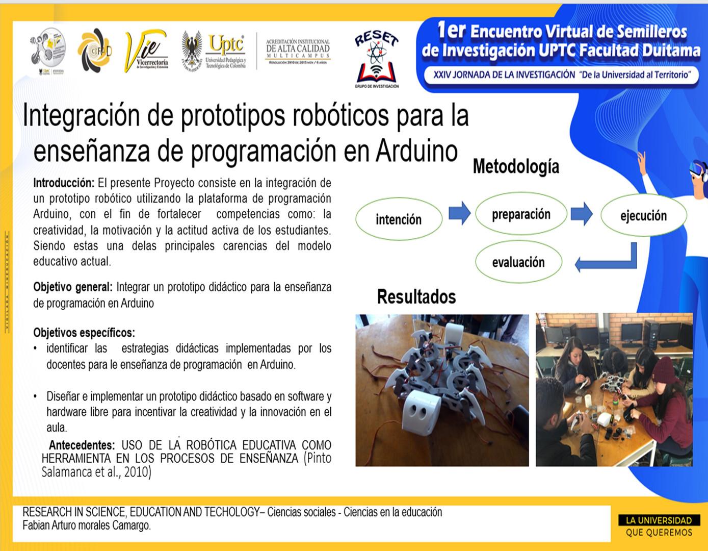 Integración de prototipos robóticos para la enseñanza de programación en Arduino