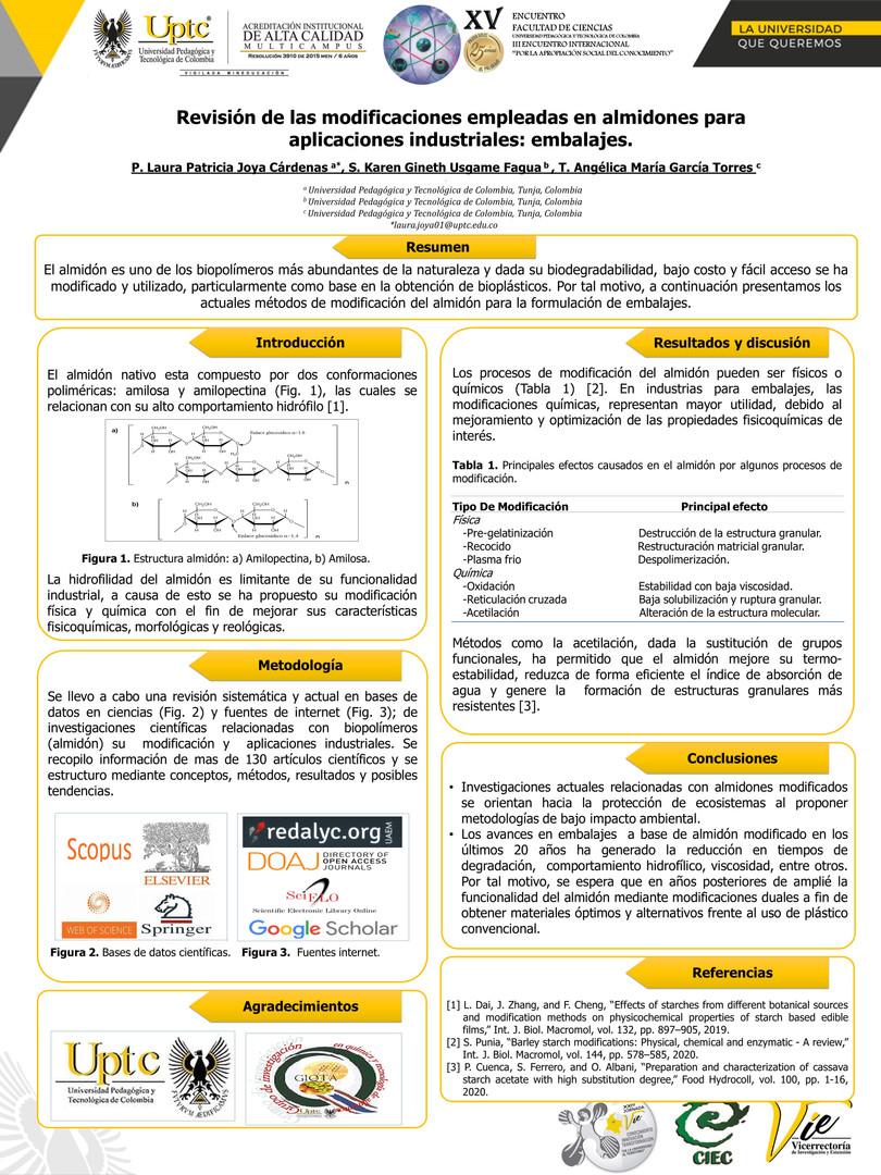 Revisión de las modificaciones empleadas en almidones para aplicaciones industriales: embalajes