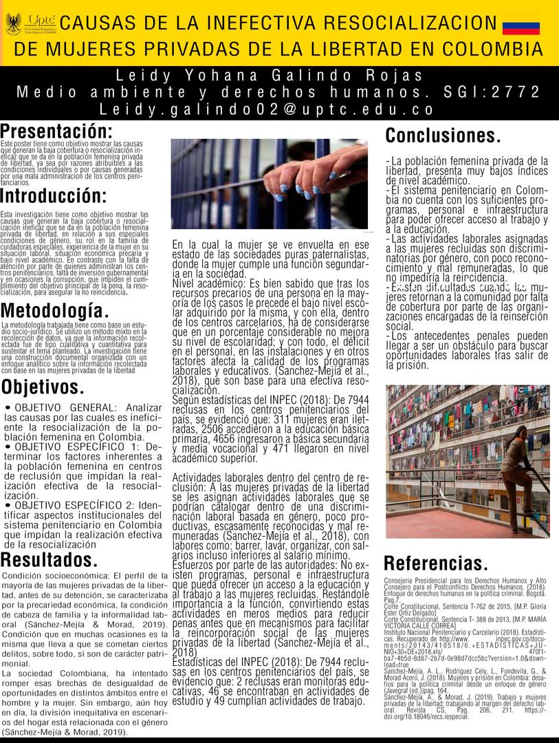 Causas de la inefectiva resocialización de mujeres privadas de la libertad en Colombia