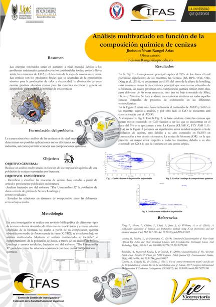 Análisis multivariado de la composición química de cenizas