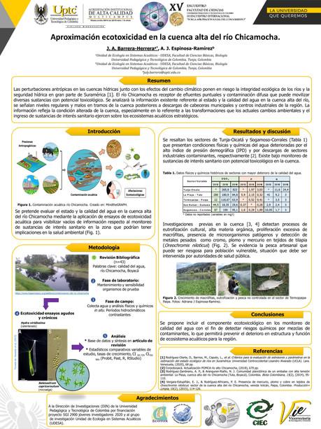 Aproximación ecotoxicidad en la cuenca del río Chicamocha.