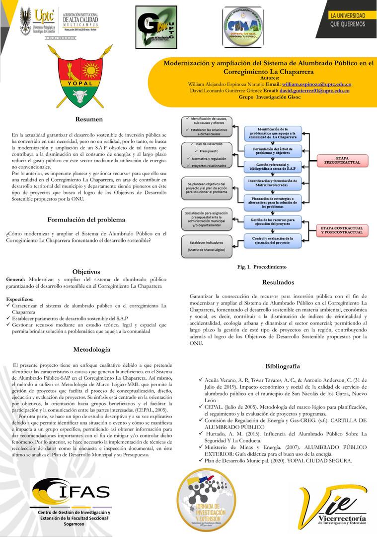 Modernización y ampliación del sistema de alumbrado público en el corregimiento la Chaparrera