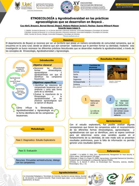 Etnoecología Y Agrobiodiversidad En Las Prácticas Agroecológicas Que Se Desarrollan En Boyacá