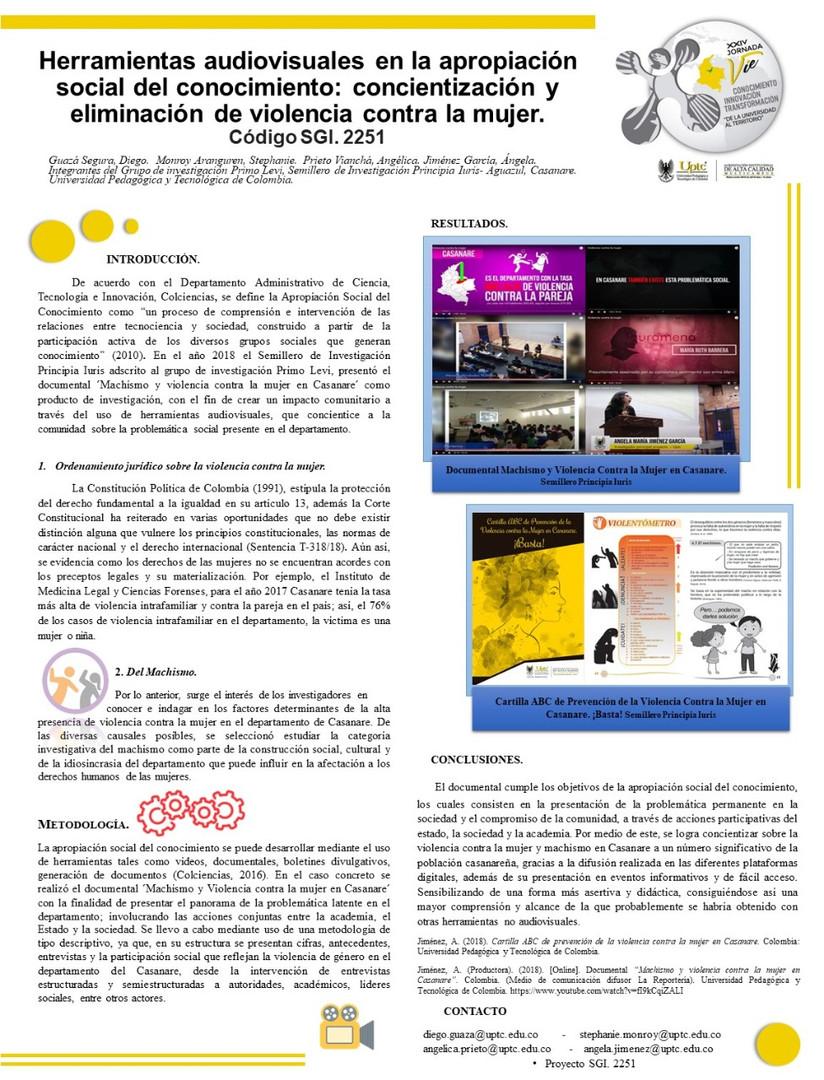 Herramientas audiovisuales en la apropiación social del conocimiento: concientización y eliminación de violencia contra la mujer.