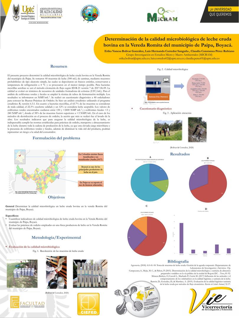 Determinación de la calidad microbiológica de leche cruda bovina en la Vereda Romita del municipio de Paipa, Boyacá
