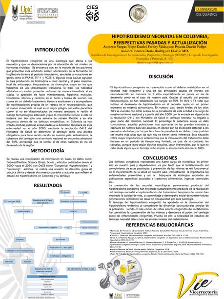 Hipotiroidismo Neonatal en Colombia, perspectivas pasadas y actualización