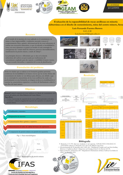 Evaluación de la expansibilidad de rocas arcillosas en minería subterranea en el diseño de sostenimiento, mina del centro minero, Sena