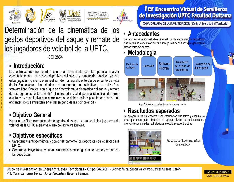Determinación de la cinemática de los gestos deportivos del saque y remate de los jugadores de voleibol de la UPTC
