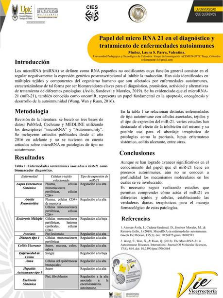 Papel del micro RNA 21 en el diagnóstico y tratamiento de enfermedades autoinmunes.