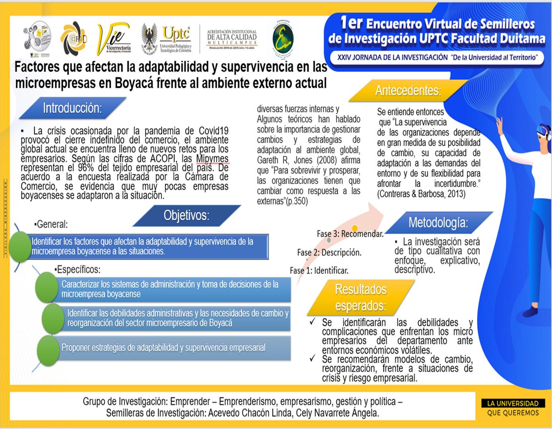 Factores que afectan la adaptabilidad y supervivencia en las microempresas en Boyacá frente al ambiente externo actual
