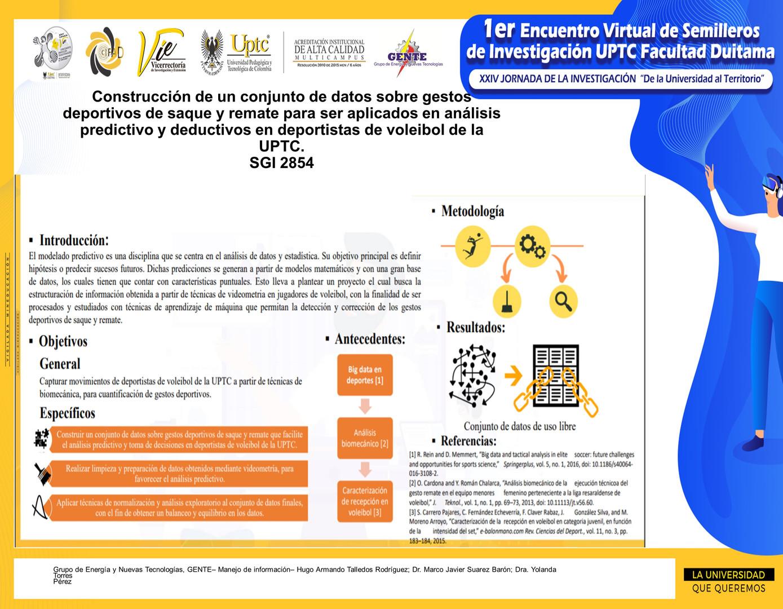 Construcción de un conjunto de datos sobre gestos deportivos de saque y remate para ser aplicados en análisis predictivo y deductivos en deportistas de voleibol de la UPTC