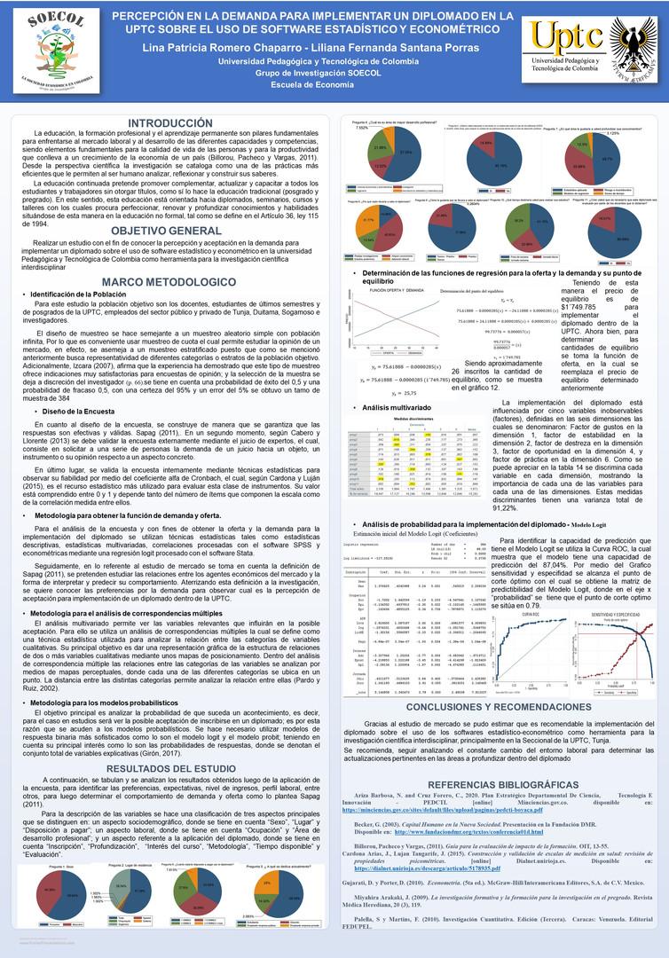 Percepción en la demanda para implementar un diplomado en la UPTC sobre el uso del Software estadístico y Económico