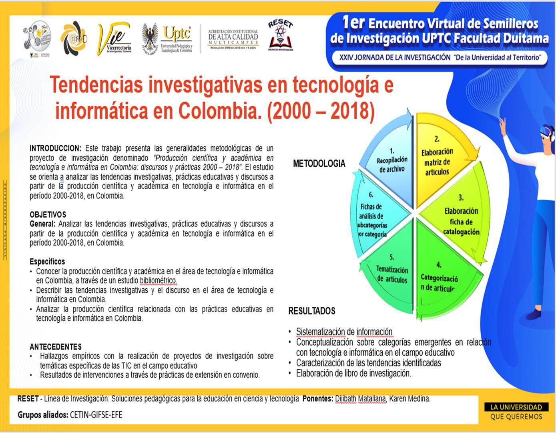 Tendencias investigativas en tecnología e informática en Colombia. (2000 – 2018)