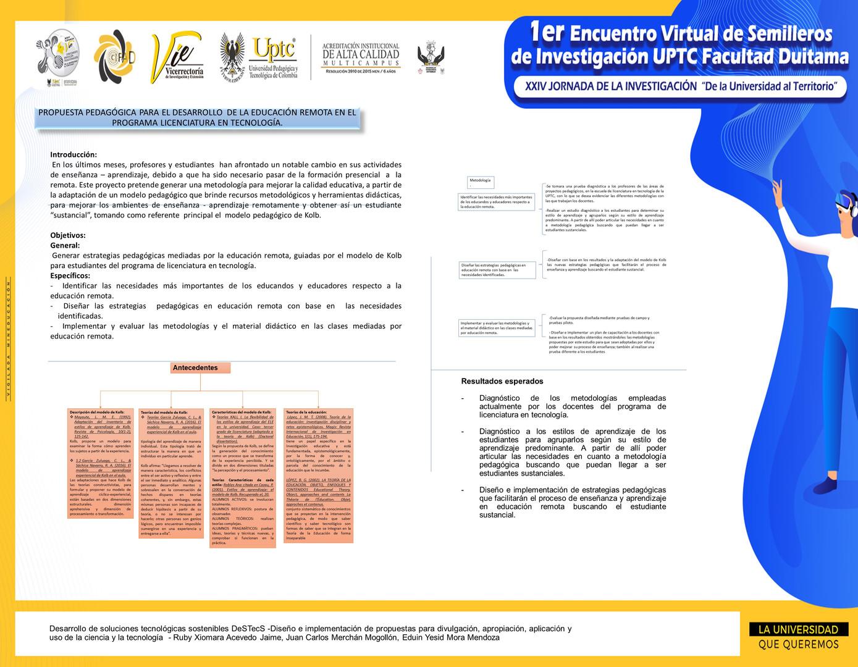 Propuesta pedagógica para el desarrollo  de la educación remota en el programa Licenciatura en Tecnología