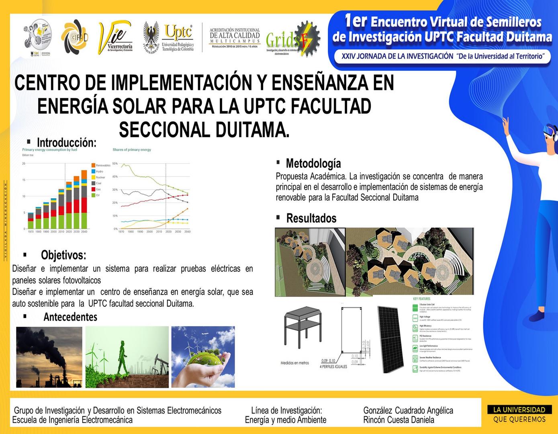 Centro De Implementación Y Enseñanza En Energía Solar Para La Uptc Facultad Seccional Duitama