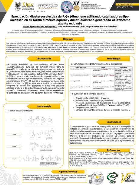 Epoxidación diastereoselectiva de R-(+)-limoneno utilizando catalizadores tipo Jacobsen en su forma dimérica aquiral y dimetildioxirano generado in-situ como agente oxidante