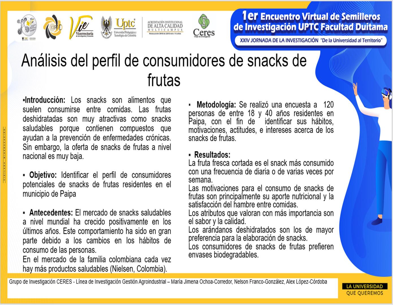 Análisis del perfil de consumidores de snacks de frutas
