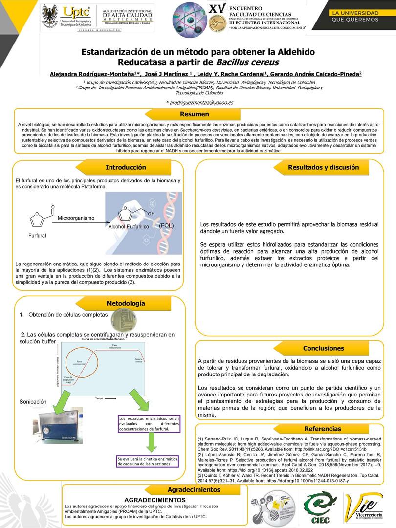 Estandarización de un método para obtener la aldehído reductasa a partir de Bacillus cereus