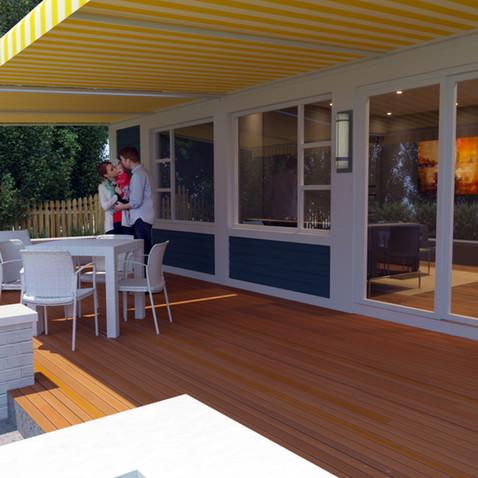 Garden home deck sample