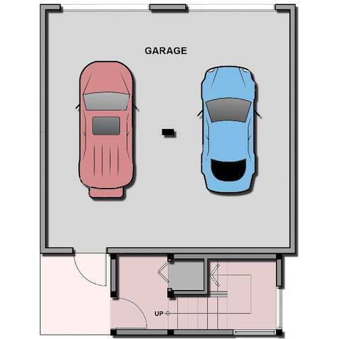Mews garage floor plan sample