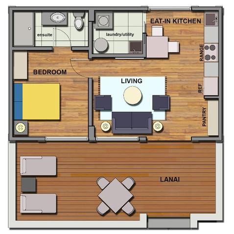 Garden home floor plan sample