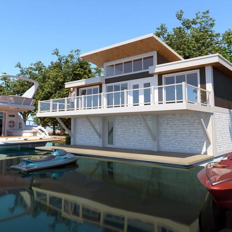 2-storey lake cottage sample