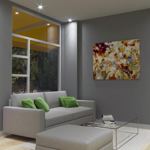 Garden interior living room sample