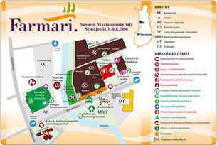 Farmari 2006 -aluekartta