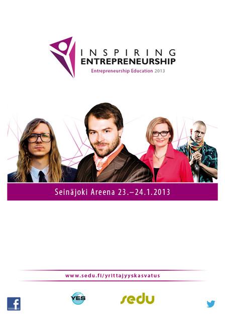 Yrittäjyyskasvatus 2013: Innostava Yrittäjyys
