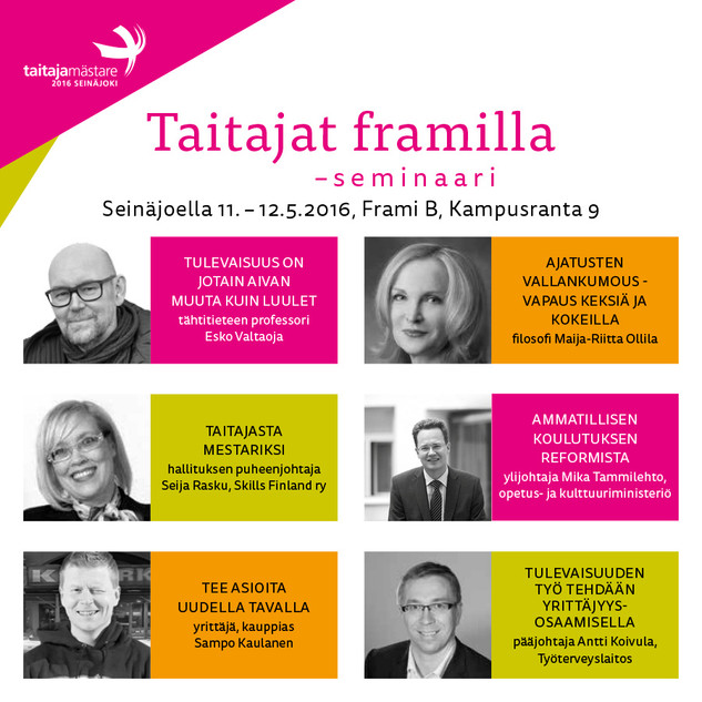 Taitajat Framilla -seminaari