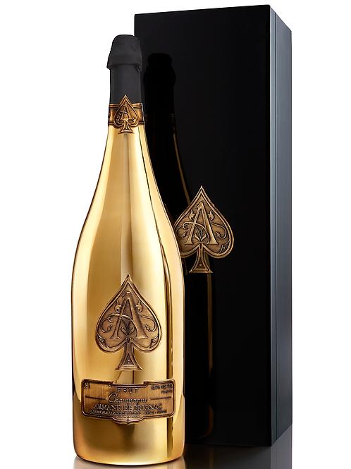 Armand de Brignac Champagne, Brut Gold, Rehoboam, 4.5L