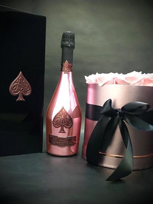 Armand de Brignac Rosé 750ml με ροζ Luxury Roses