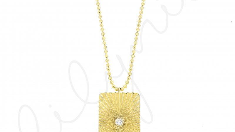 Helios (Güneş Tanrıçası) Gümüş Kolye