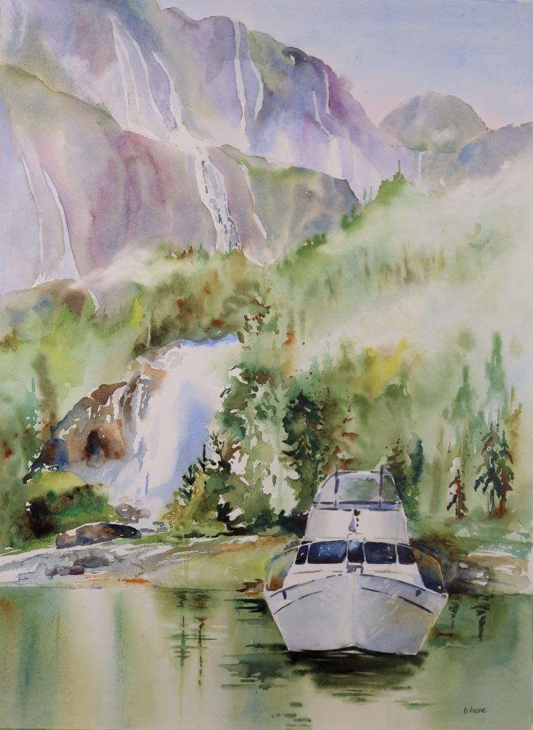 Boat at Chatterbox Falls