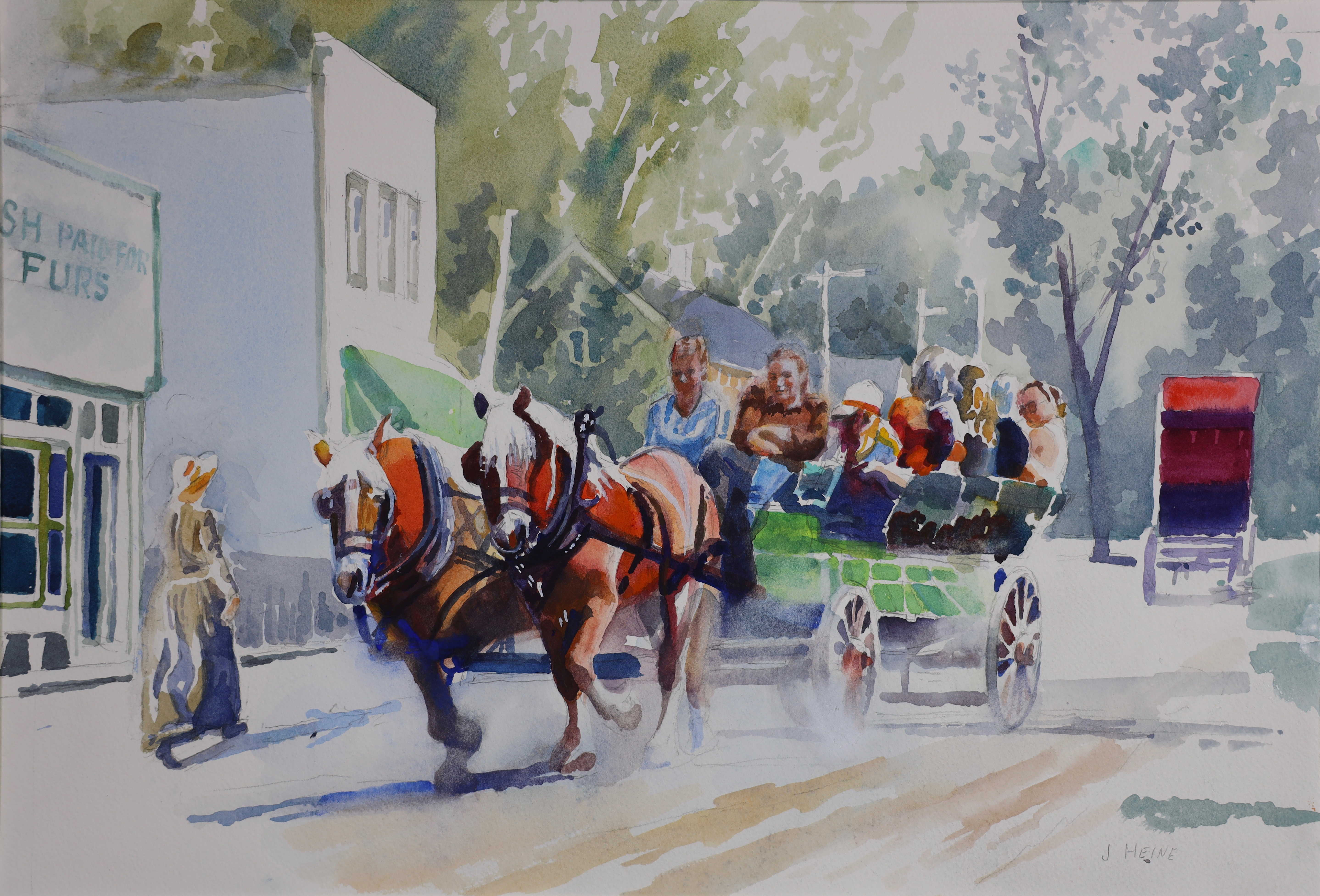 Horsedrawn Wagon at Ft Edmonton