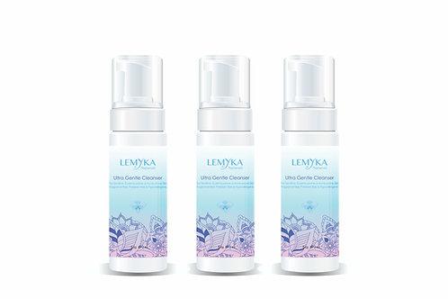 Natural Face Wash Travel X3 Bundle   Foaming & Gentle   LEMYKA 2oz