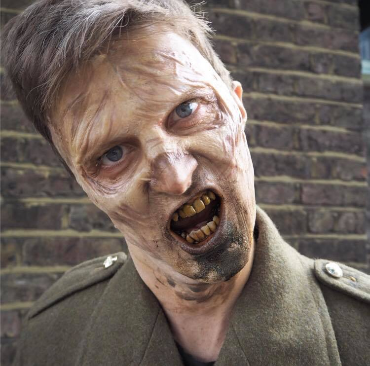 Full face Zombie Prosthetic