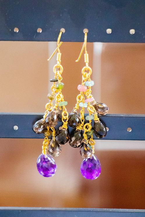 Gemstone amazing earings