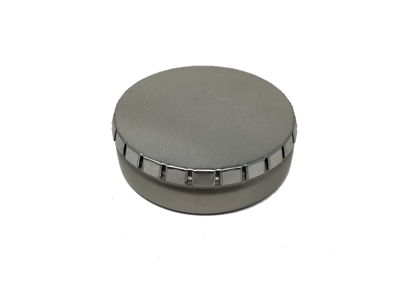 4224 Metal tin with clicker lid