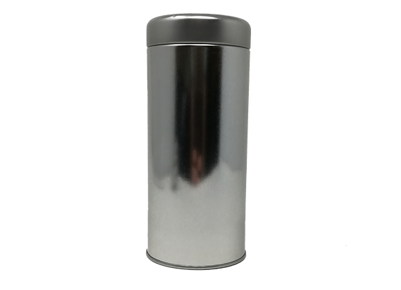 4225b Metal canister with plug lid