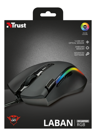 Mouse GXT 188 Laban RGB Gaming