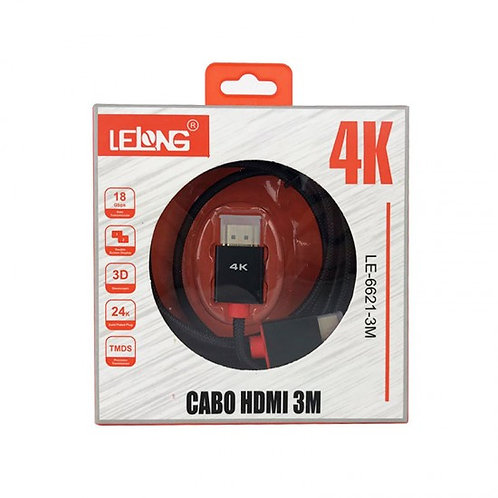 Cabo HDMI 3M 4K