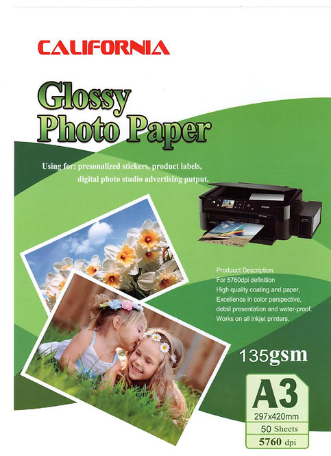Papel Glossy California A3